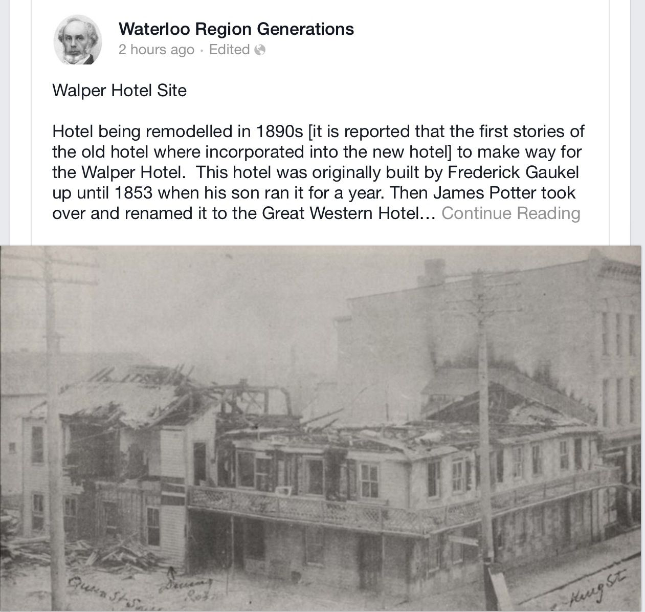 Walper hotel in downtown Kitchener. #historical | Our Hood ...