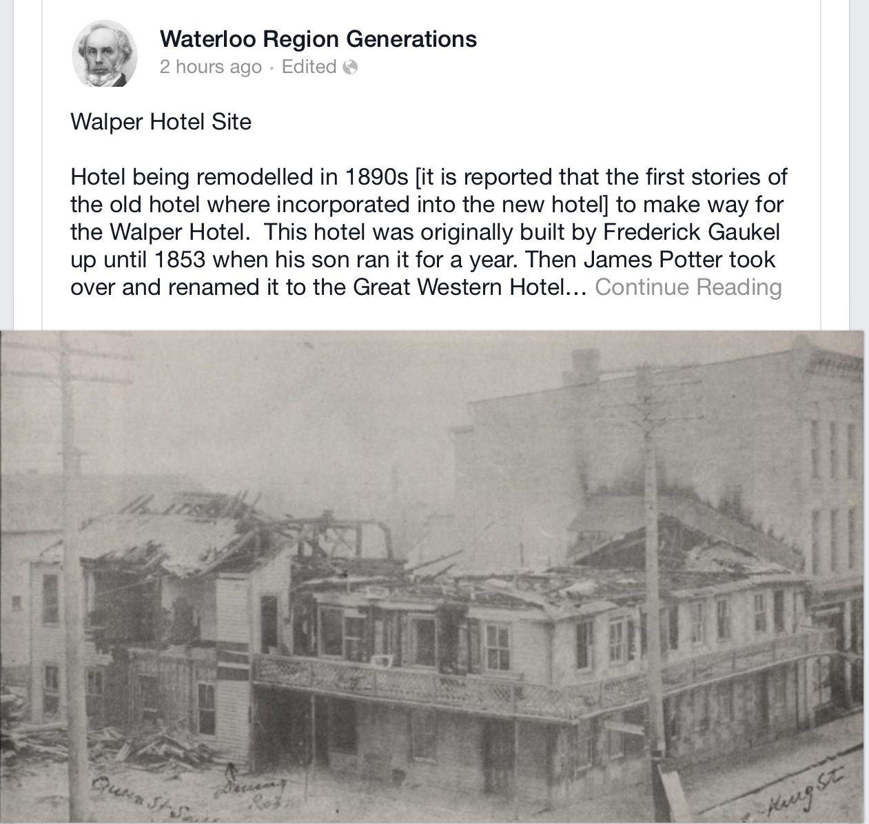 Walter hotel in Kitchener | Kitchener, Ontario | Pinterest | Ontario