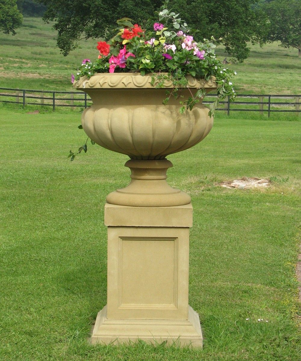 Victorian Stone Plant Tazza On Pedestal Large Garden Planter. Buy Now At  Http:/