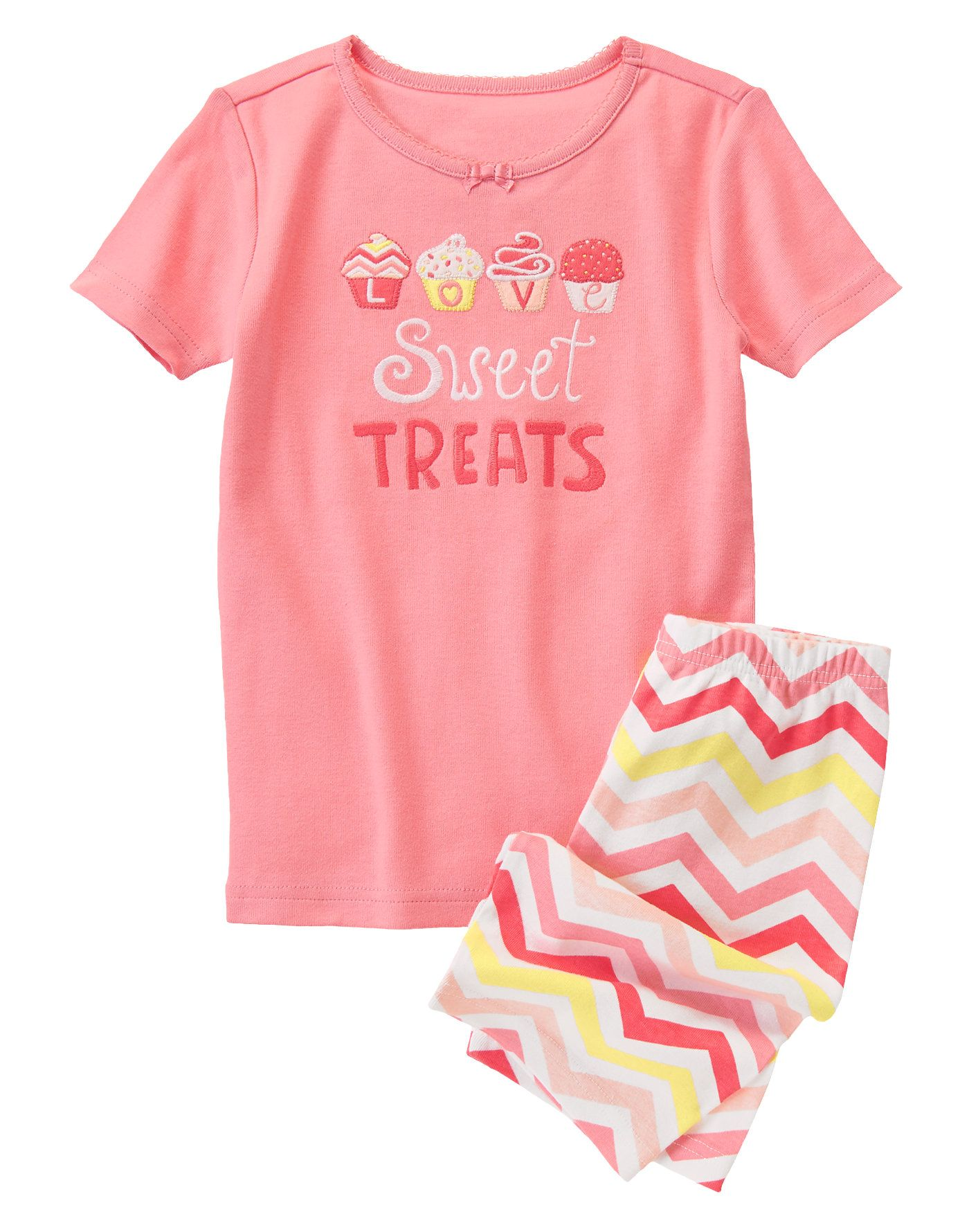 NEW Gymboree Sweet Treats Love Gymmies Shorts PJs Size 3 year Summer Top Shorts