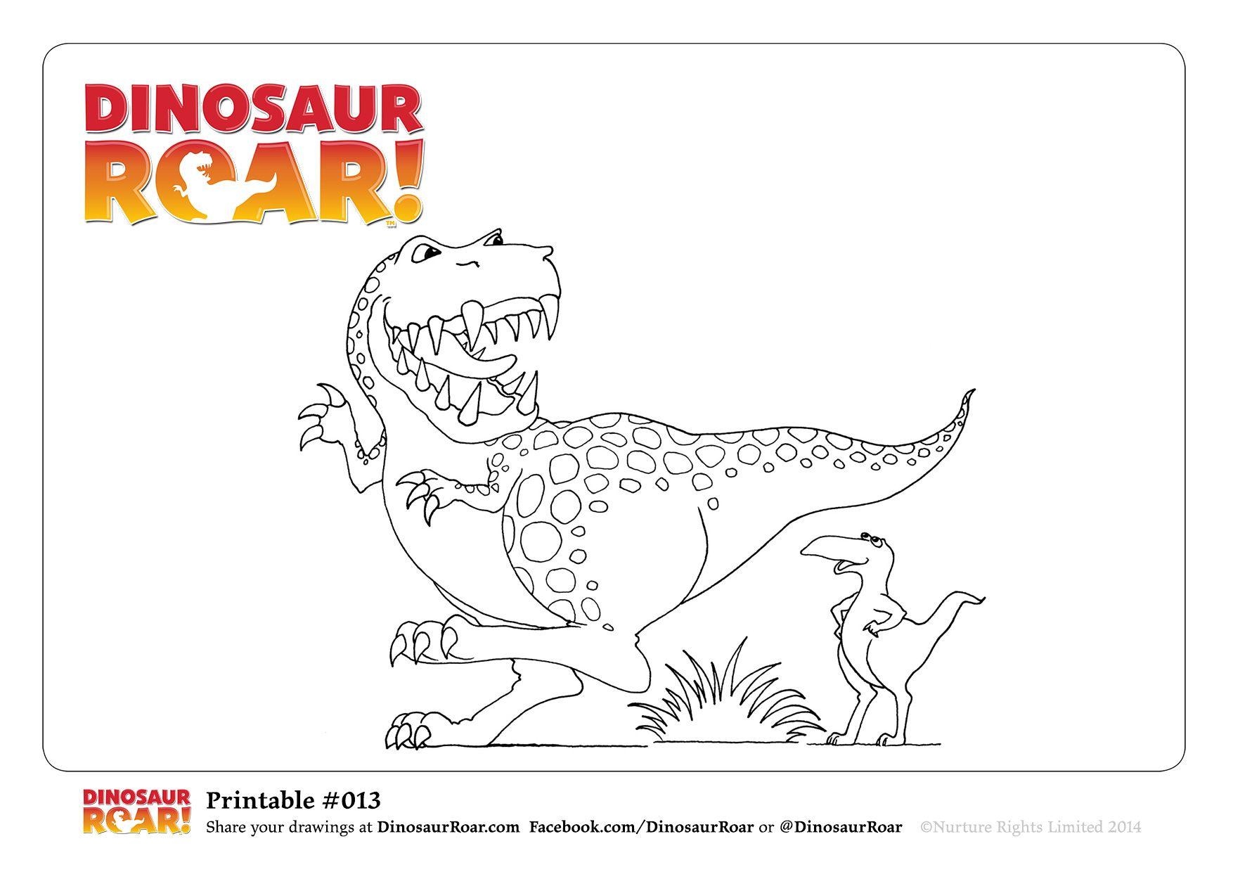 DinosaurRoar coloring pages - Dinosaur Roar Cover - Dinosaur Roar ...