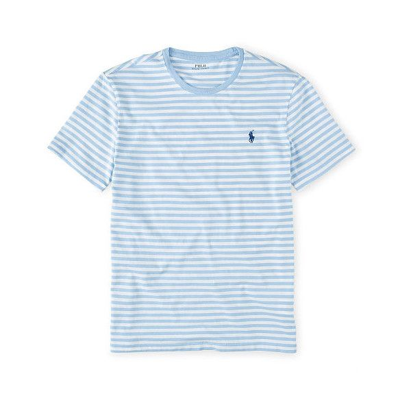 5848ff8fe62 Polo Ralph Lauren Custom-Fit Striped T-Shirt found on Polyvore featuring  polyvore