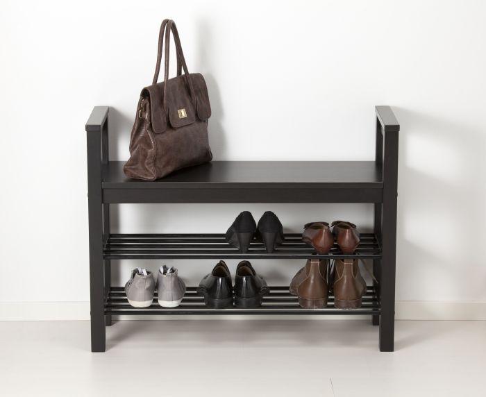 hemnes bench with shoe storage blackbrown
