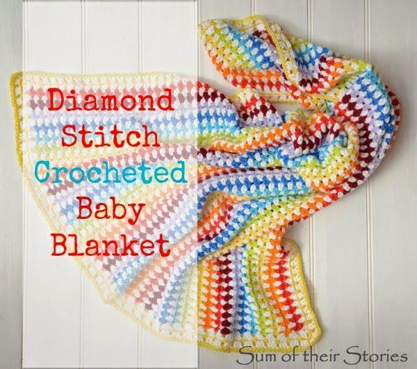 Diamond Stitch Crocheted Baby Blanket   Nadel und Deckchen