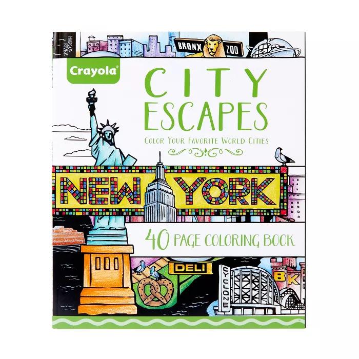 Crayola 40pg City Escapes Coloring Book in 2020 | Coloring ...