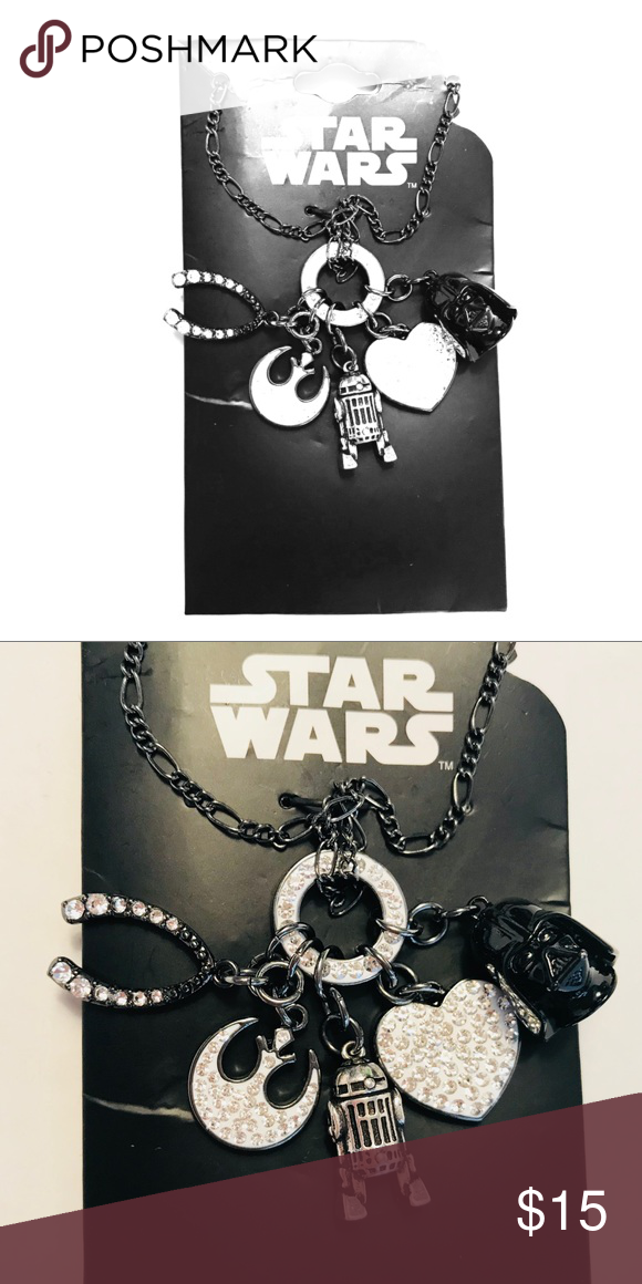 24da194724bbe9 Disney Star Wars Charm Necklace Black and Silver
