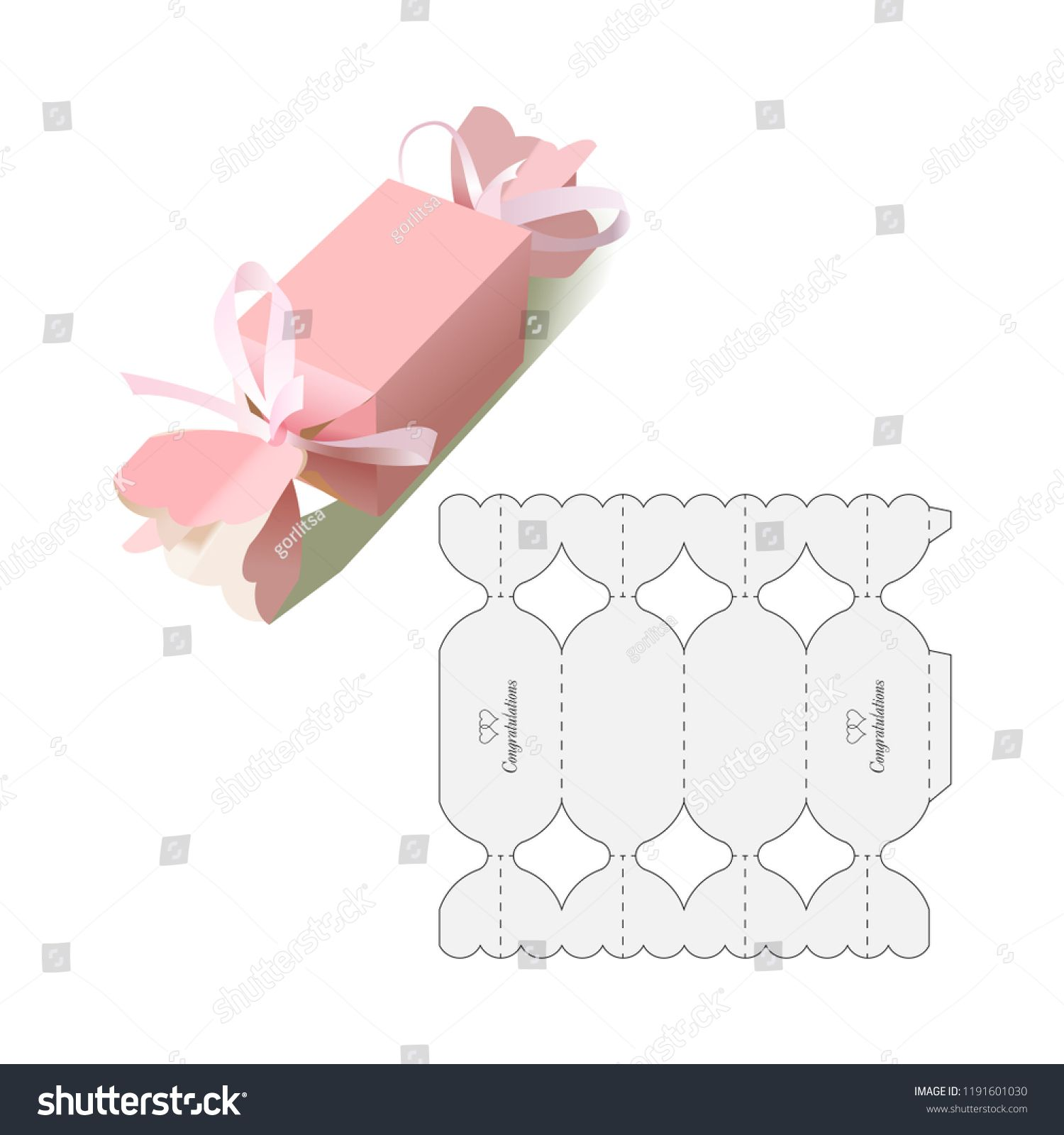 Hard Candy Retail Box With Blueprint Template