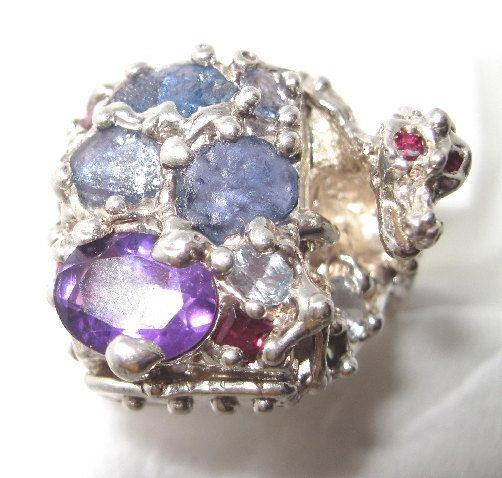 You never know when a ring like this will come in handy! Dragon Poison Pill Ring - sapphires mostly- Artist signed Piece - Made USA Sterling Silver by TreasuringsJewelry #sellergroup