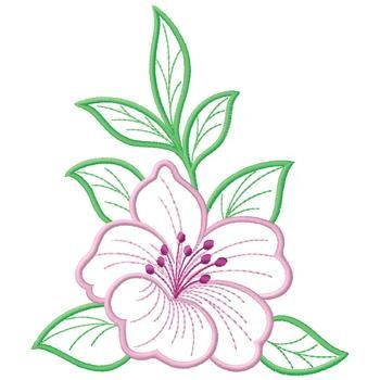 Hibiscus Embroidery Design Ribbon Embroidery Kit Floral Embroidery Patterns Silk Ribbon Embroidery
