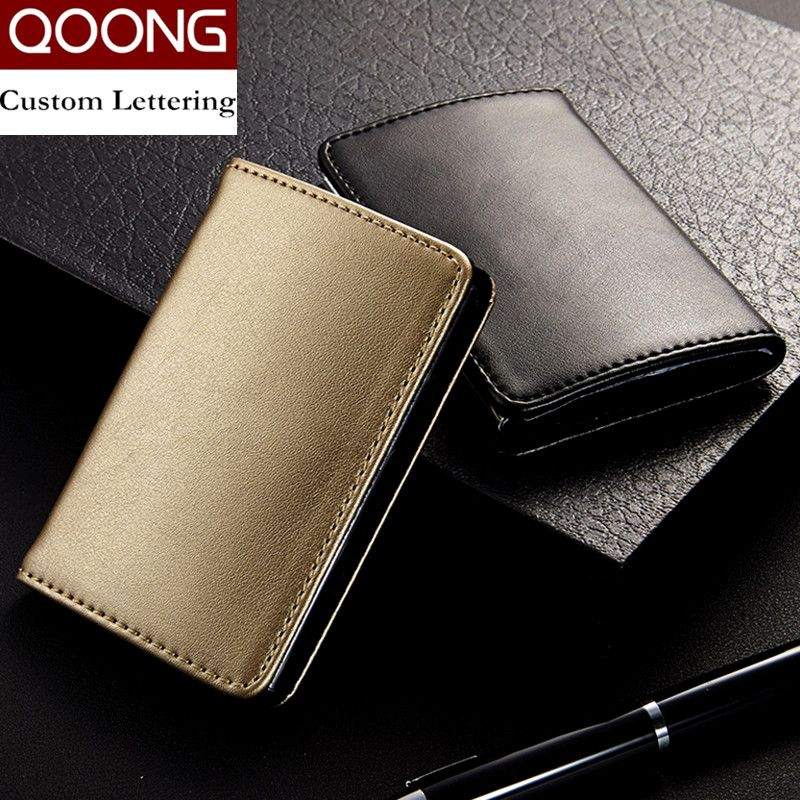 QOONG Fashion Men Women Genuine Leather Stainless Steel Hasp ...