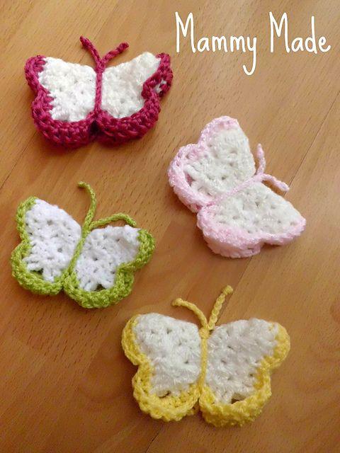 Ravelry: Crochet 3D Butterfly pattern by Adele Uyan | Crochet#2 ...