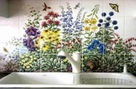 Decorative Wall Tile Murals Tuscan Scene Wall Tiles  Tiles Tile Murals For Kitchen
