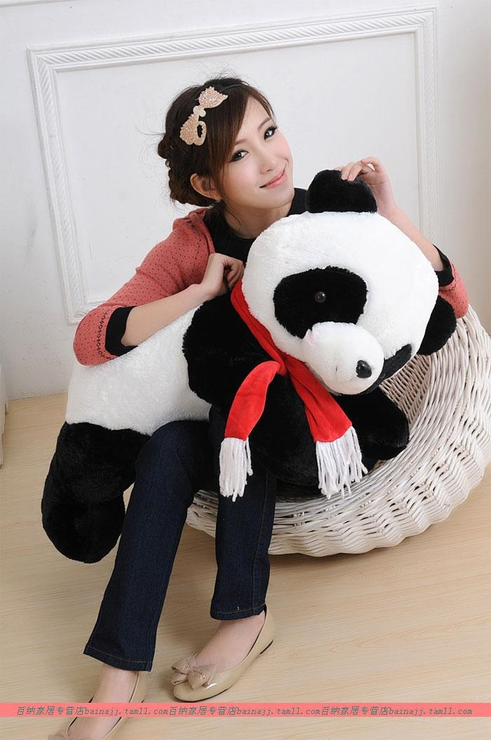 31.80$  Watch now - http://aliyv3.shopchina.info/1/go.php?t=2030969083 - large 60cm lovely scarf panda plush toy lying panda doll gift w6919  #magazine