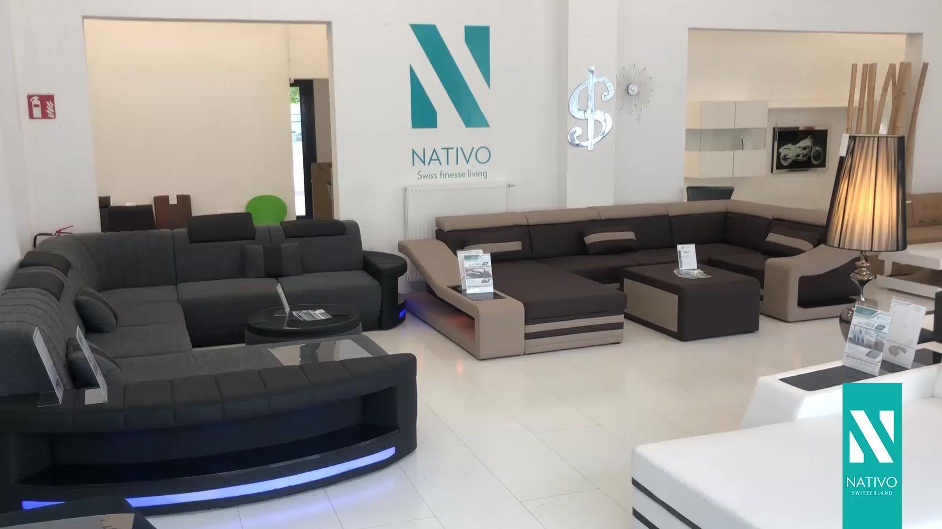 Pin By Nativo Namestaj Srbija On Salon Namestaja Nativo Srbija Video Modern Sofa Living Room Living Room Sofa Design Corner Sofa Living Room