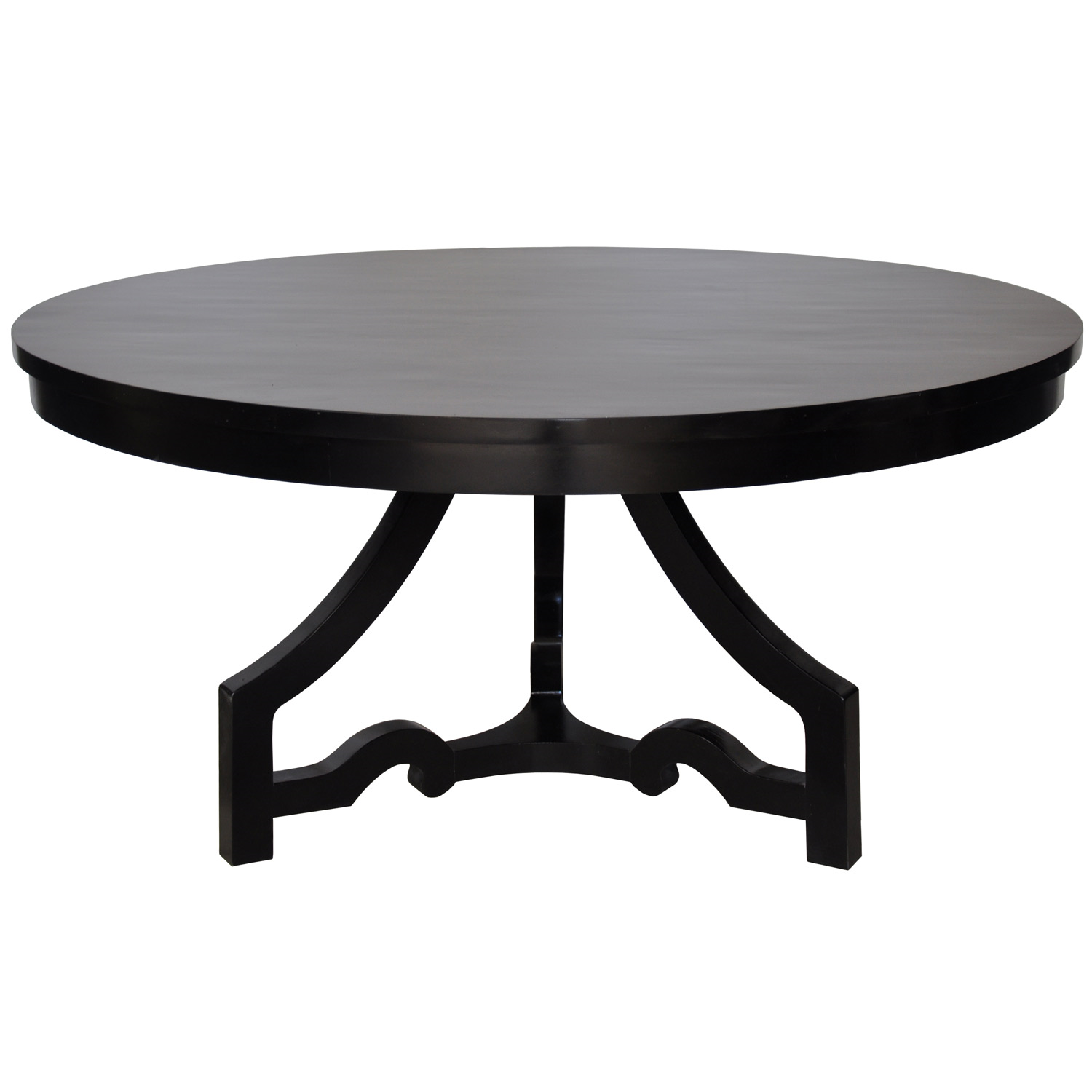 Round Dining Table Distressed Black