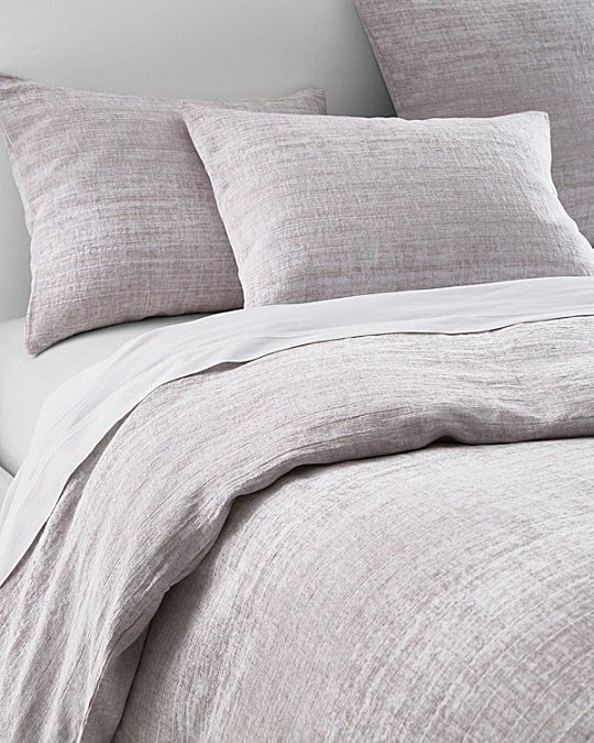 Woven With Yarn Dyed Threads To Give It A Beautiful Distressed Ombre Effect This Eileen Fisher Bedding Linen Duvet Covers Bed Linens Luxury Top Rated Bedding