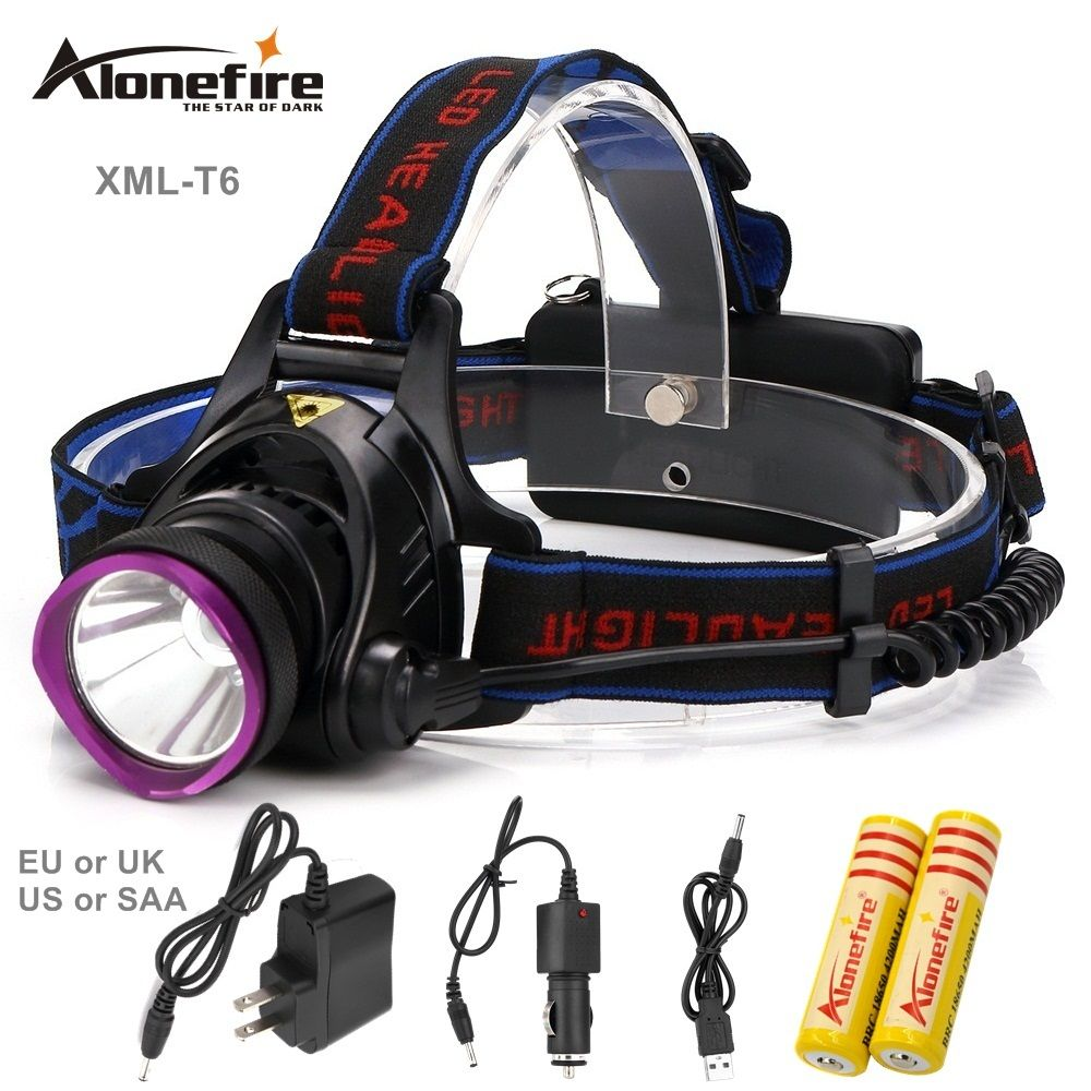 Lampe Alonefire Frontale Hp81 Head Flashlight Headlamp T6 Led WHD9IE2