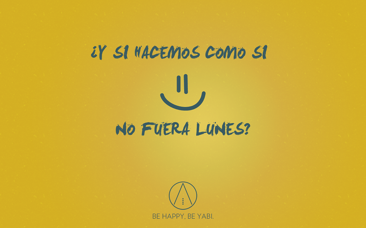 BE HAPPY, BE YABI.  #yabi1977 #yabi #behappy #moda #lunes #words #feliz #sofa #frases #smile