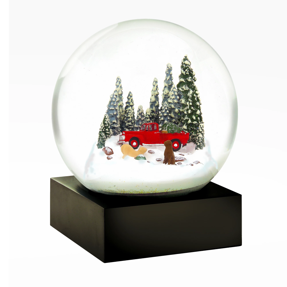 Coolsnowglobes Red Truck With Dogs Snow Globe Holiday Snow Globe Christmas Snow Globes Snow Globes