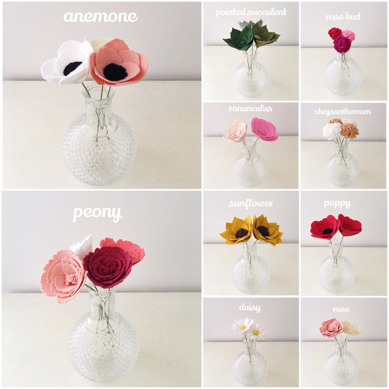 Build your own custom felt flower bouquet felt flowers