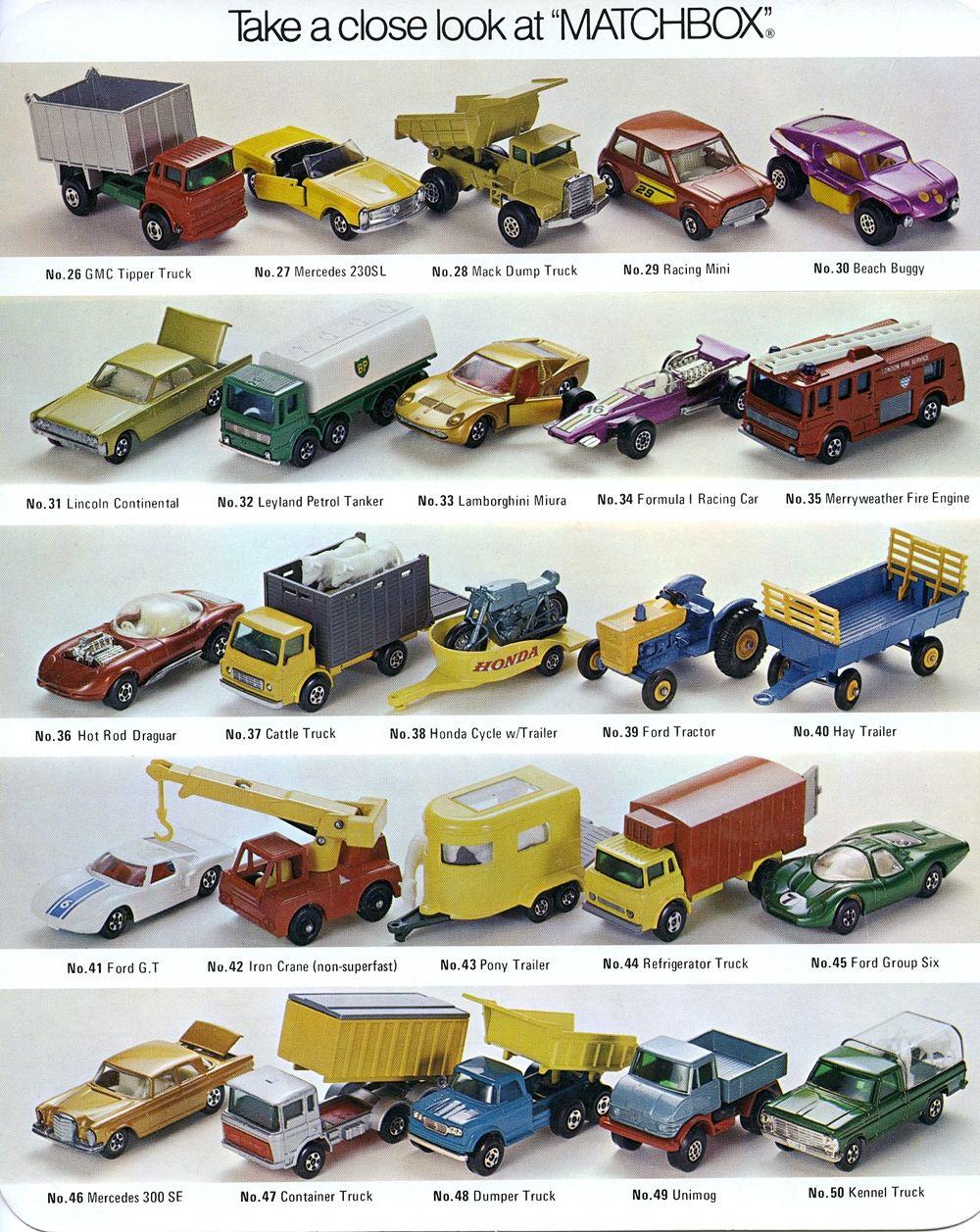 Matchbox Selector Chart 6 Matchbox Cars Matchbox Corgi Toys