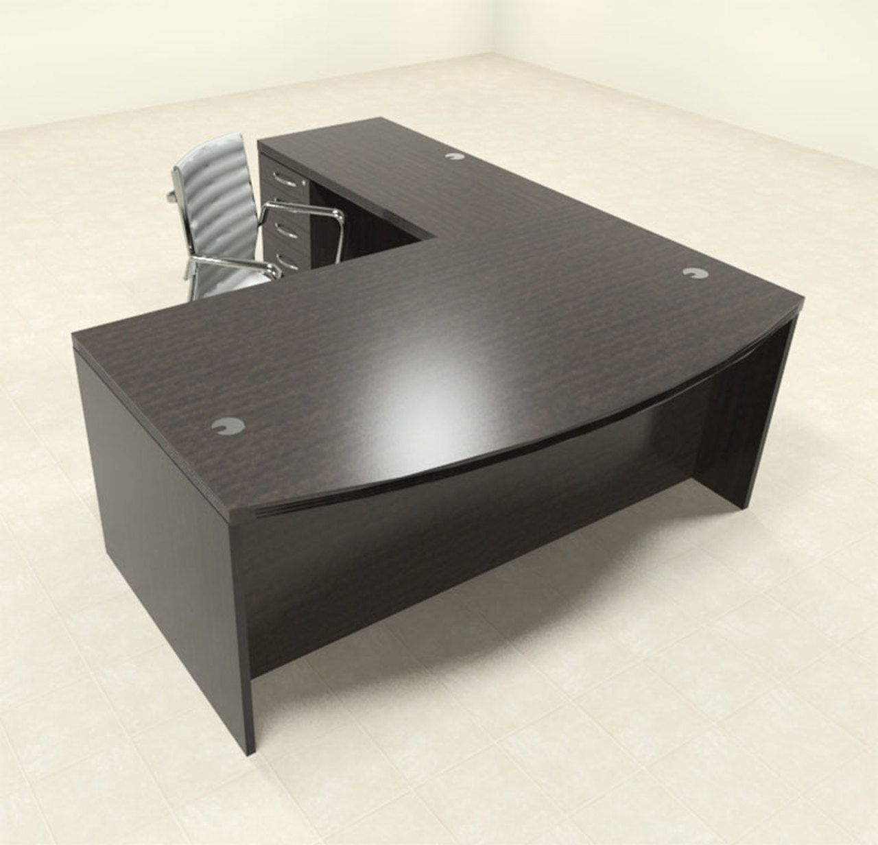 3pc Modern Contemporary L Shaped Executive Office Desk Set Ro Abd L3 Office Desk Set Executive Office Desk Executive Office