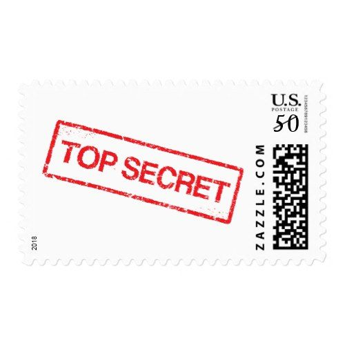 Surprise Party Top Secret Stamp Postage Red