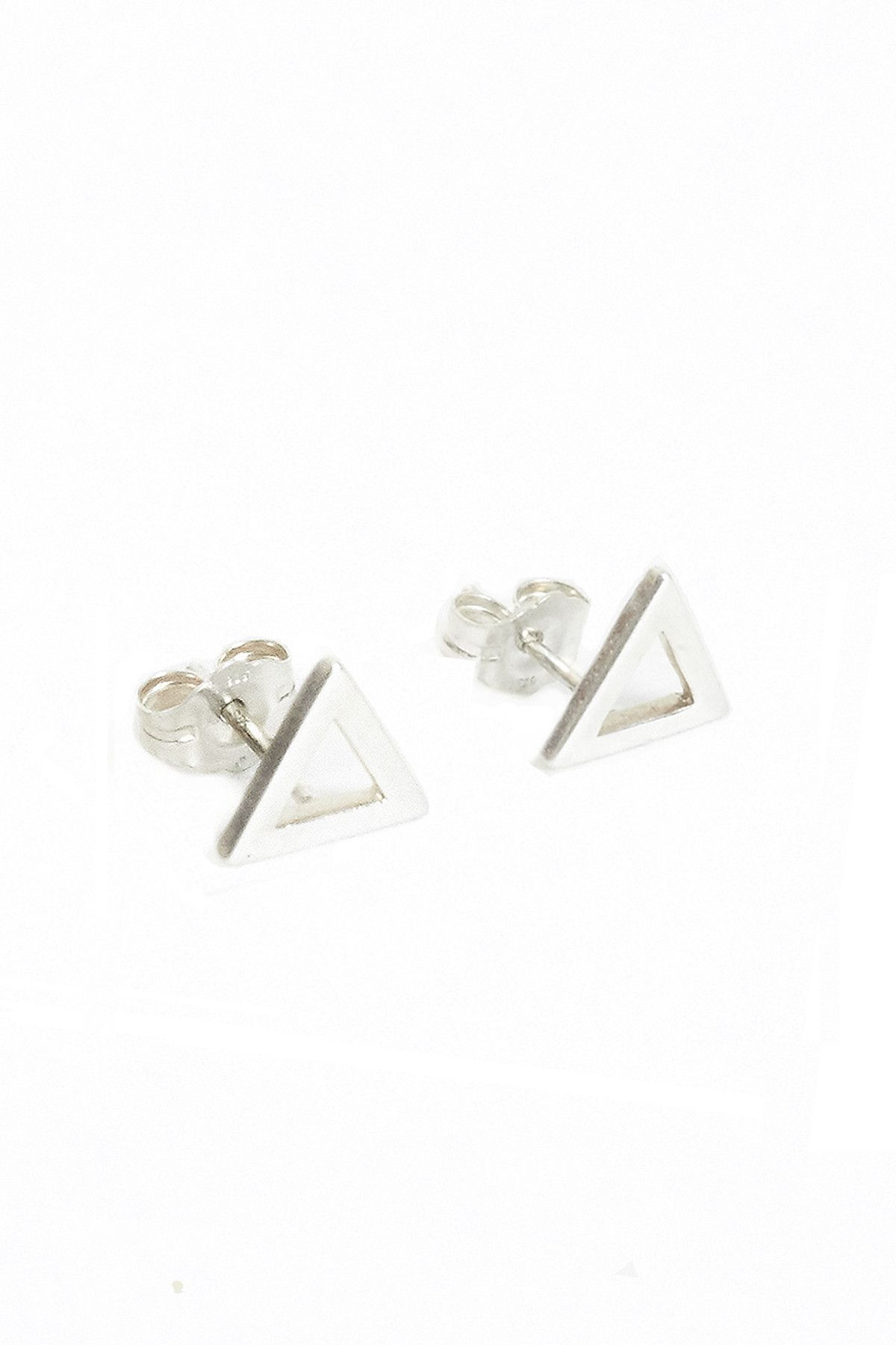 Flat Triangle Set - Sterling Silver