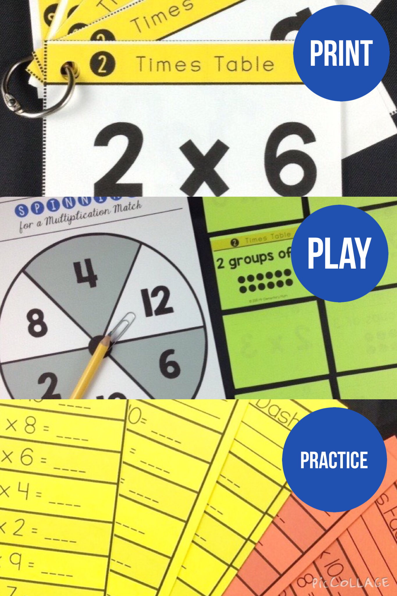 Multiplication facts 2 times table study cards multiplication are you looking for a fun way for students to learn and practice their multiplication facts gamestrikefo Choice Image