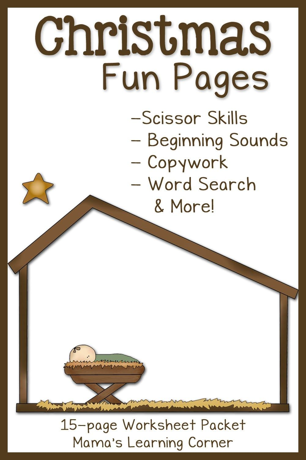 Christmas Fun Pages Free 15page Worksheet Set