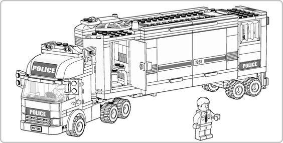 Ausmalbild Polizei Lego 01 Lego Colores Playmobil Und Bomberos