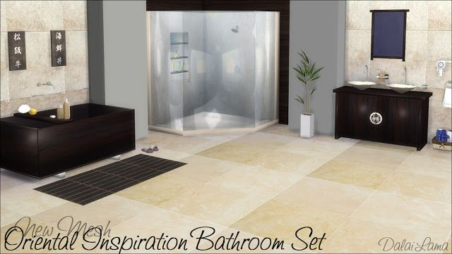 Sims 4 CC\'s - The Best: Oriental Inspiration Bathroom Set by ...