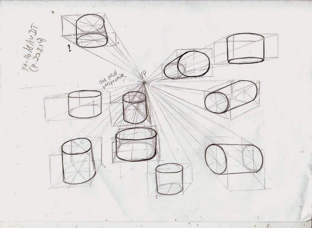 drawing cubes in perspective with shapes inside - Google Search