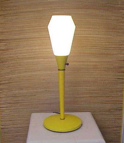 Vintage Mid-Century Modern SpaceAge Yellow Lamp