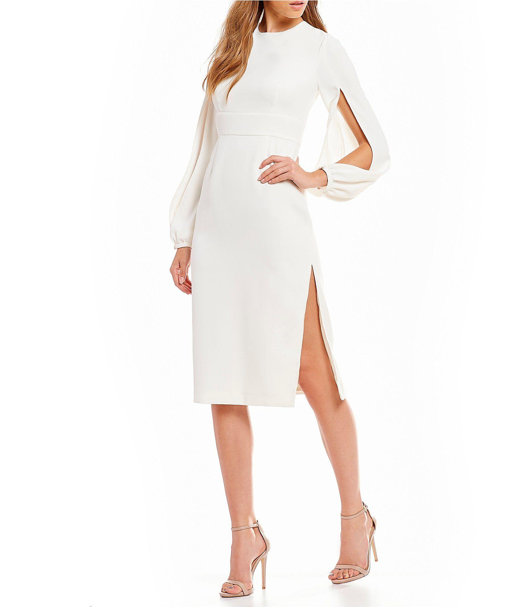 b10d97a50b2 Jill Jill Stuart Crepe Sheath Midi Dress  Dillards