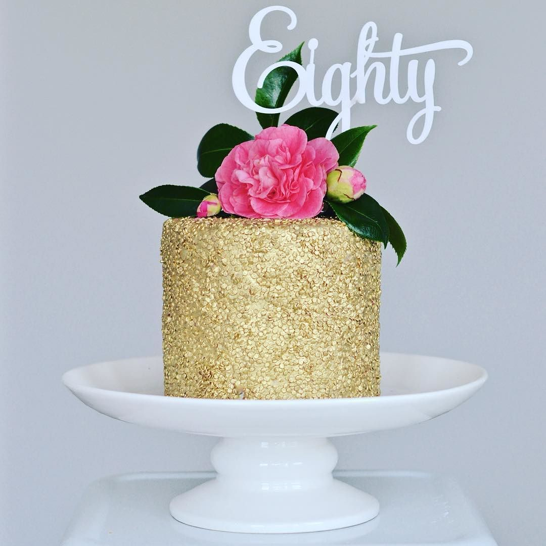 I wish I could keep painting everything gold #obsessed #cake ...
