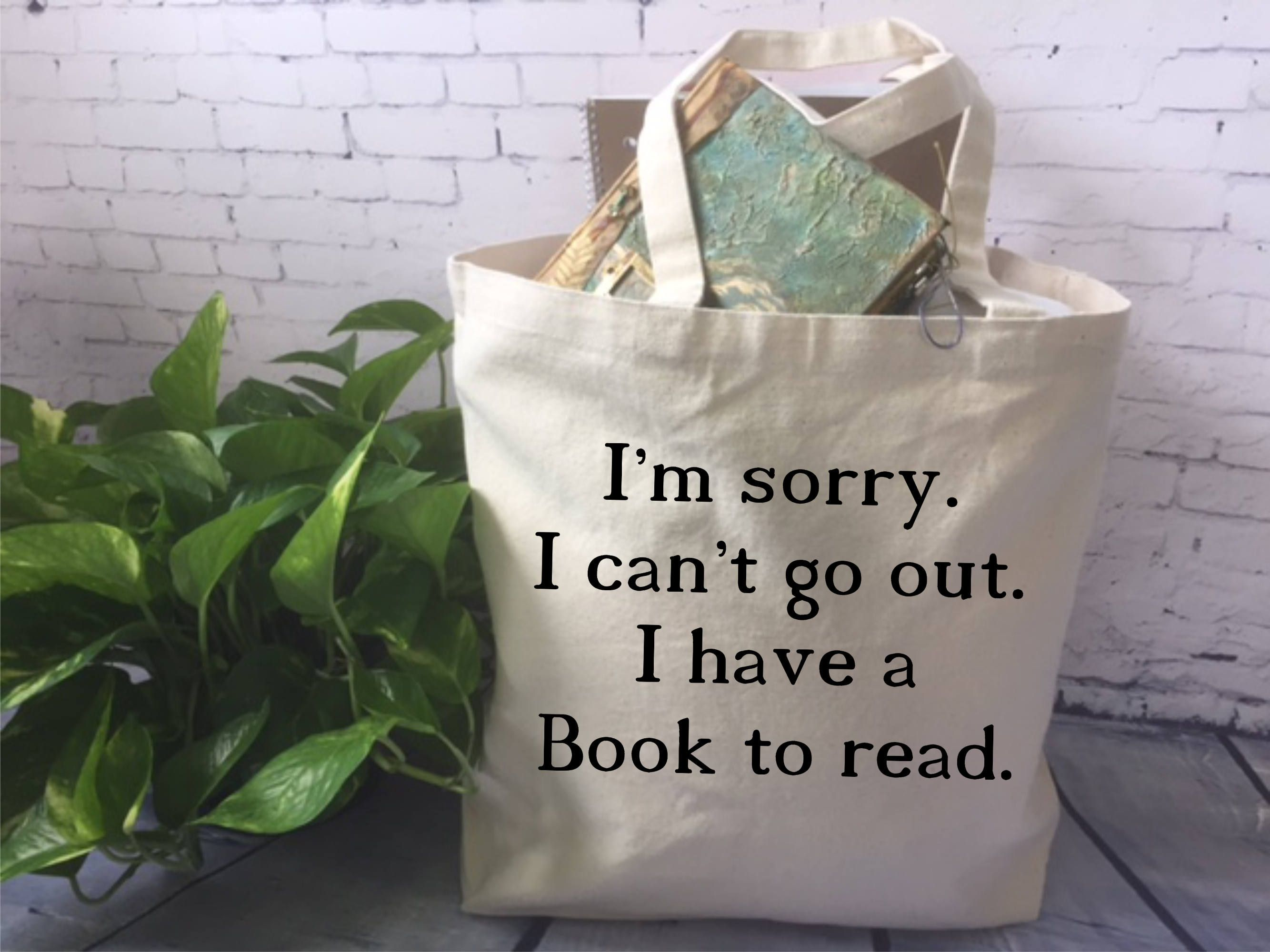 Book lover canvas tote bagbook quote tote bagfunny tote