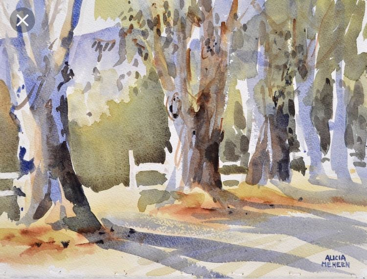 Pin By Bonnie Harless On Watercolor Watercolor Art Watercolor Trees Painting