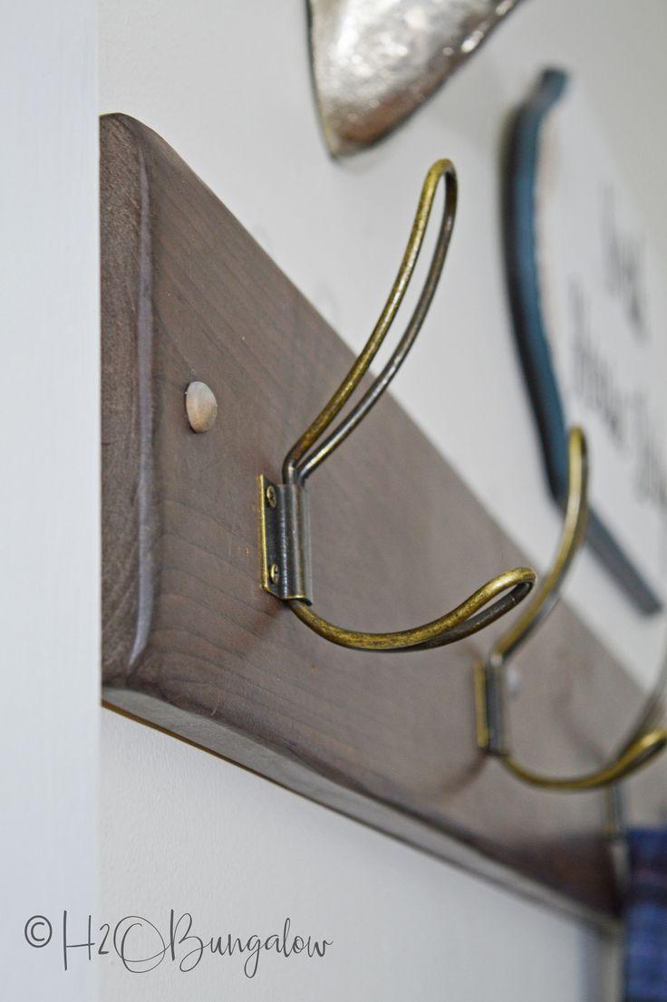 Modern Rustic DIY Vintage Hook Coat Rack