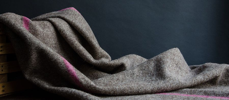 Maine Wool Blanket (Berry Stripe) - Kaufmann Mercantile  -★- #fallfavoritesKM