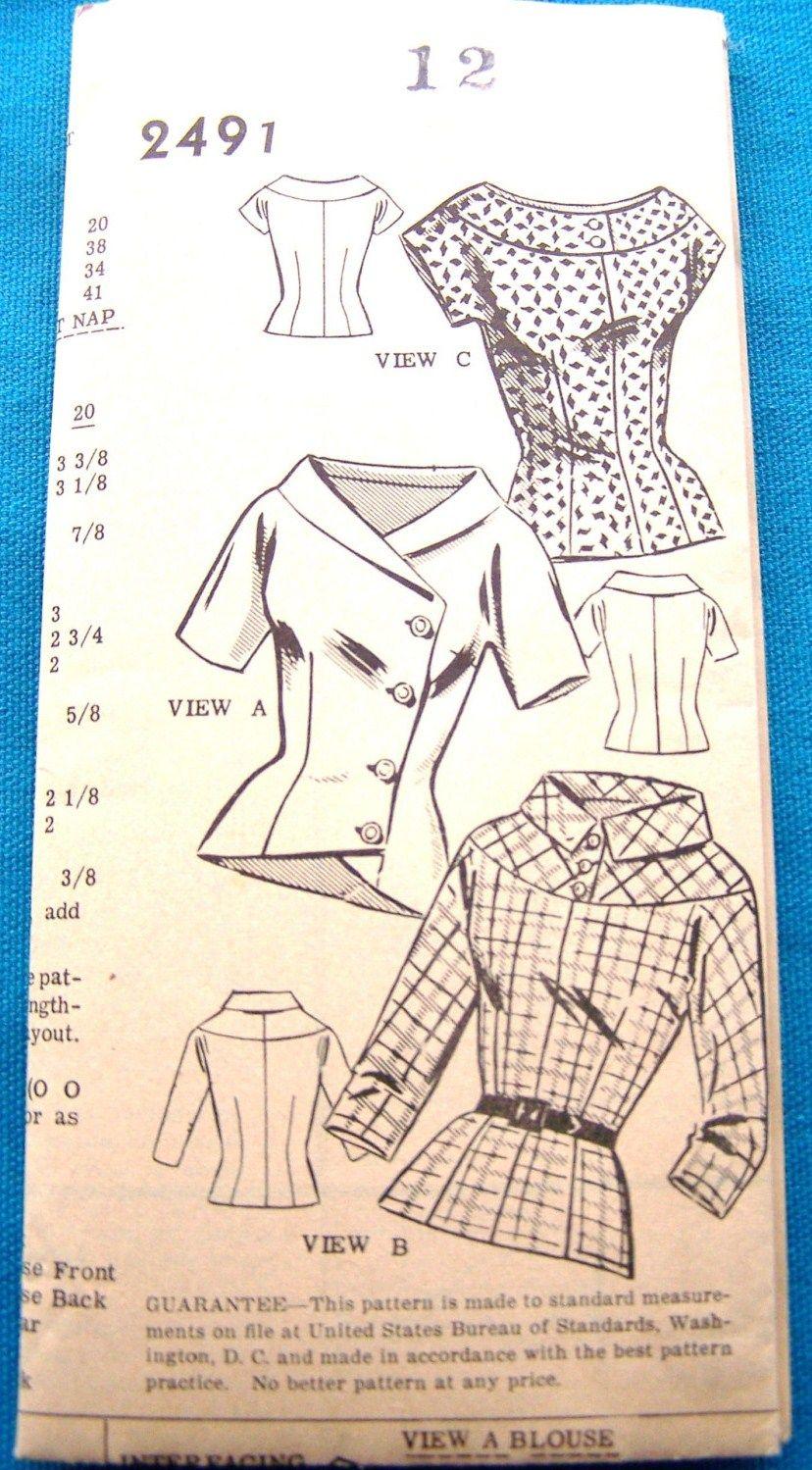 Mail Order 2491 Vintage Sewing Patterns Sewing Patterns