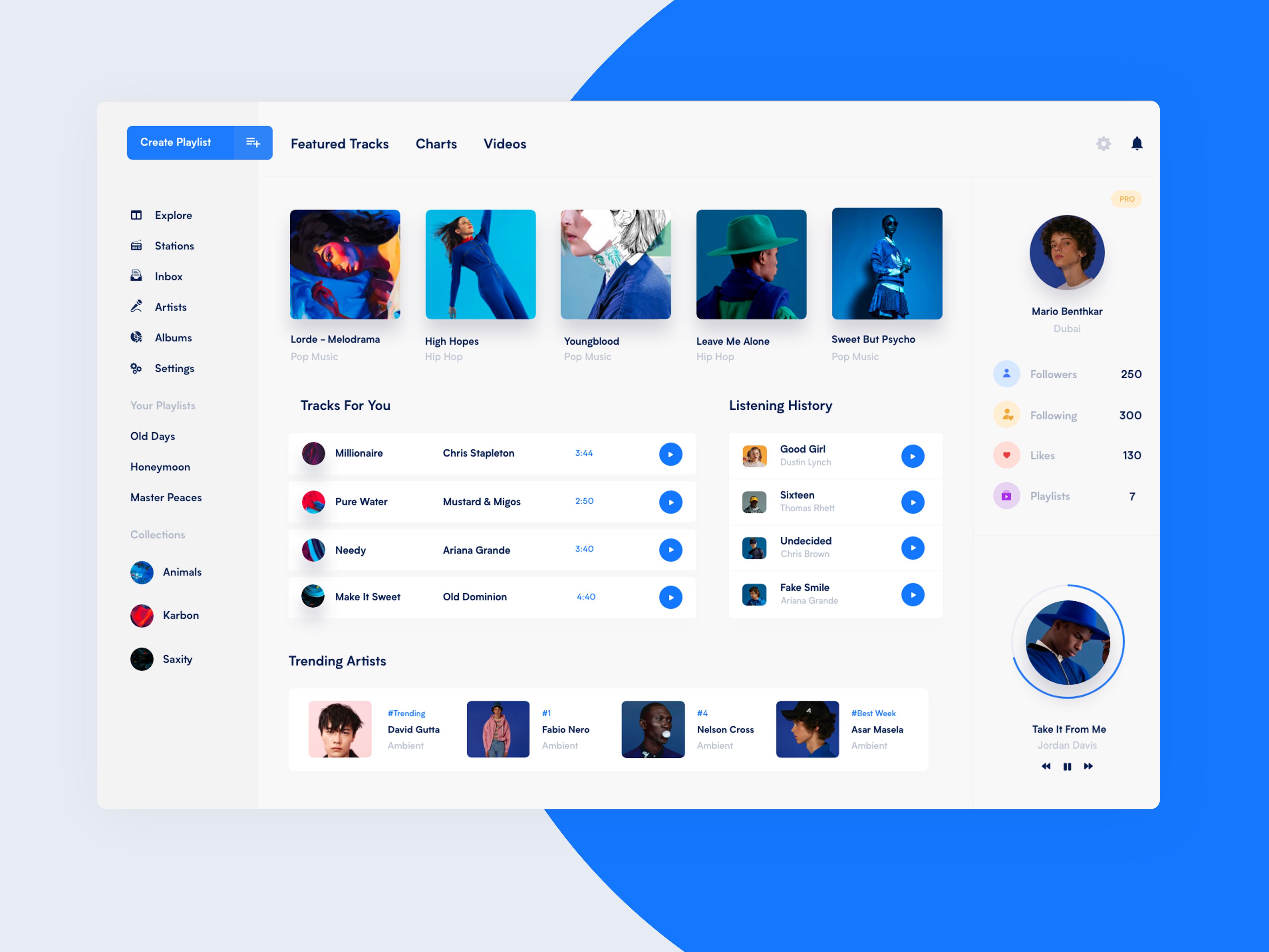 Desktop Music App Music app, Web design, App