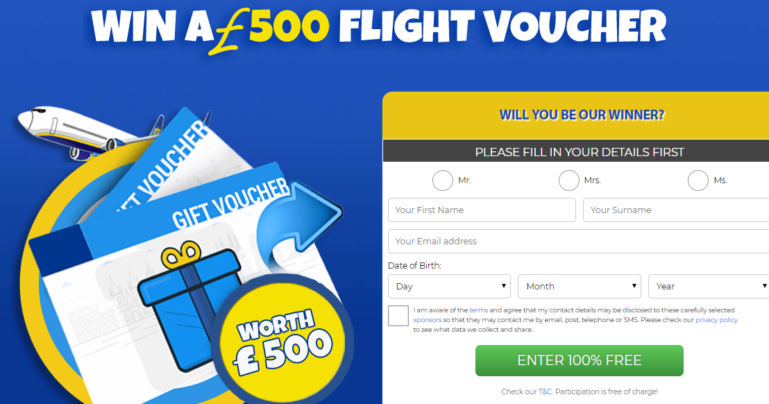 Participate for a chance to win flight a voucher! On this