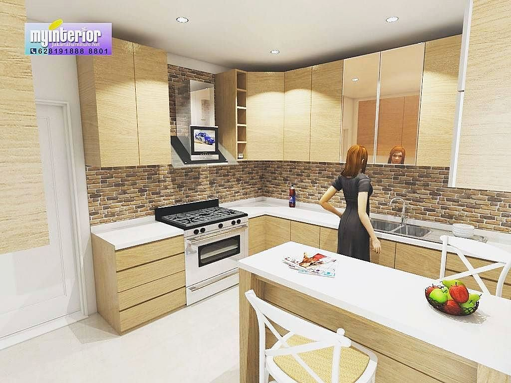 Kitchen Set Minimalis Modern Mewah Terbaru  Model dapur, Dapur