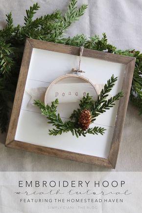 Diy Embroidery Hoop Wreath Jouluaskartelu