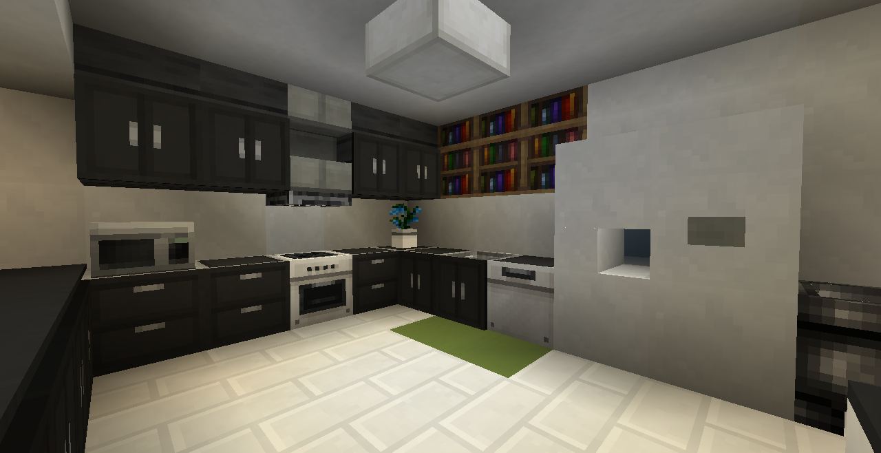 Minecraft Modern Kitchen Designs Minecraft Pe Modern Kitchen Designs