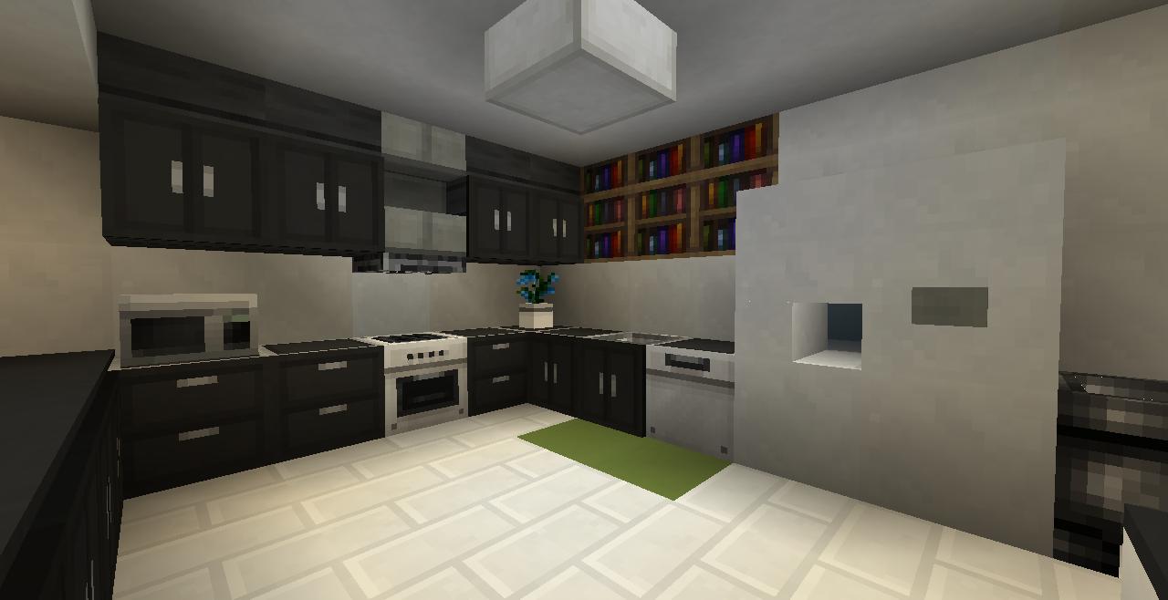 modern kitchen Minecraft kitchen ideas, Minecraft modern