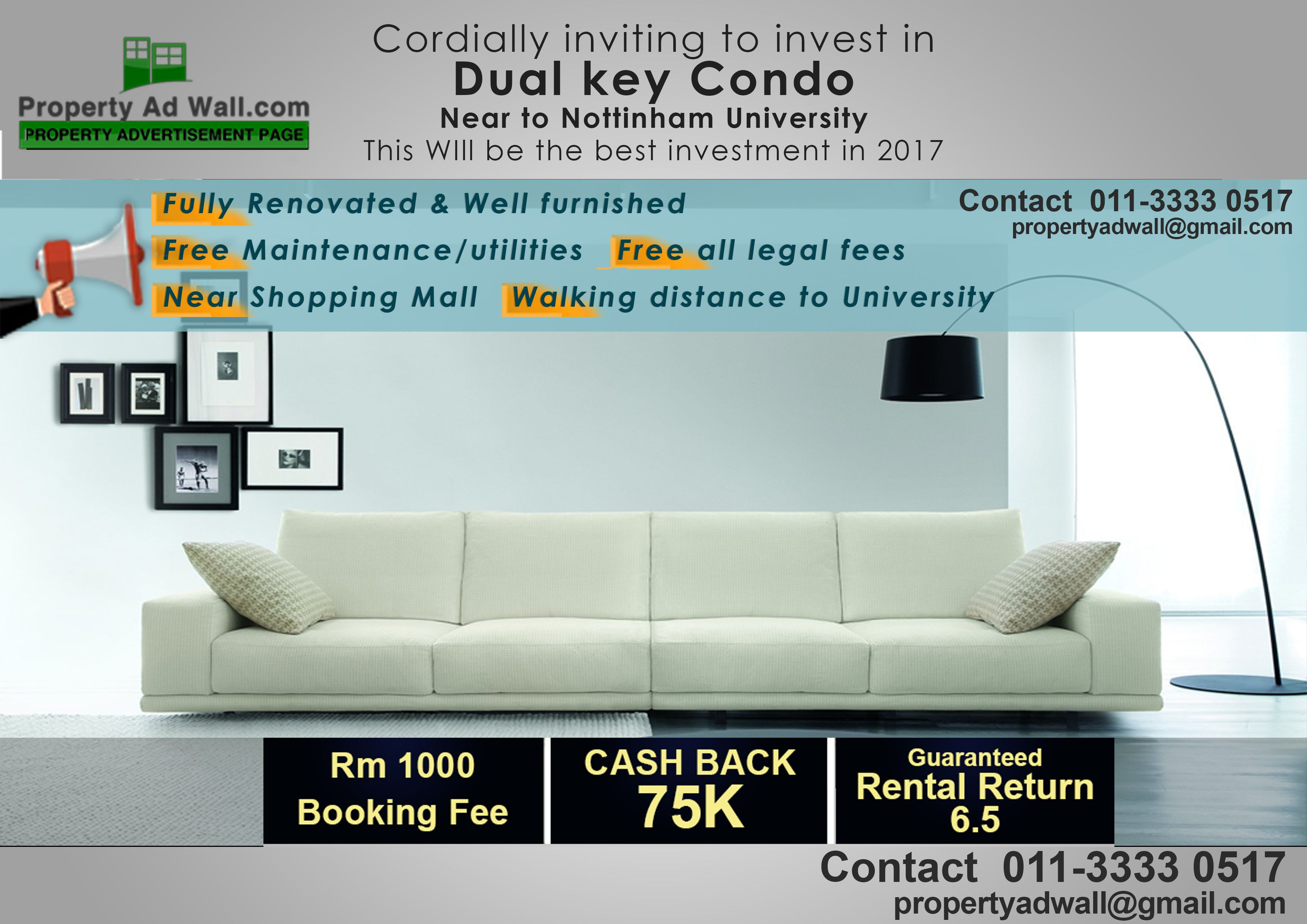 Invest In Dual Key Condo Near To Nottingham University In Malaysia