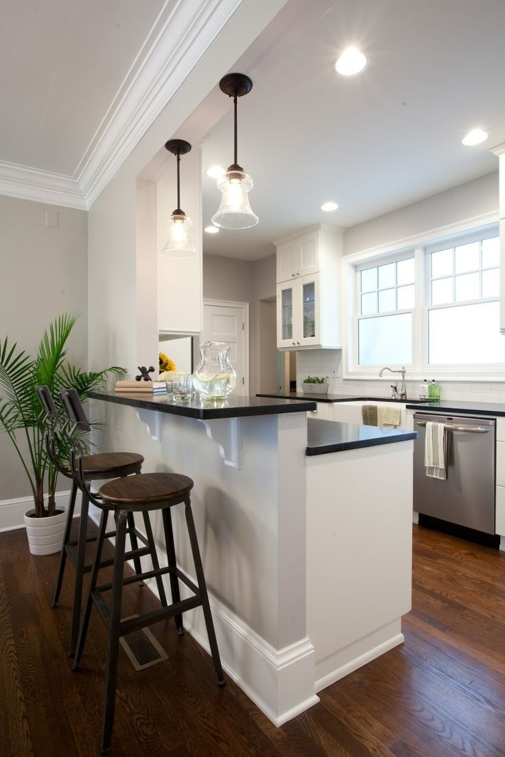 Half open conept kitchens design surprising half wall room