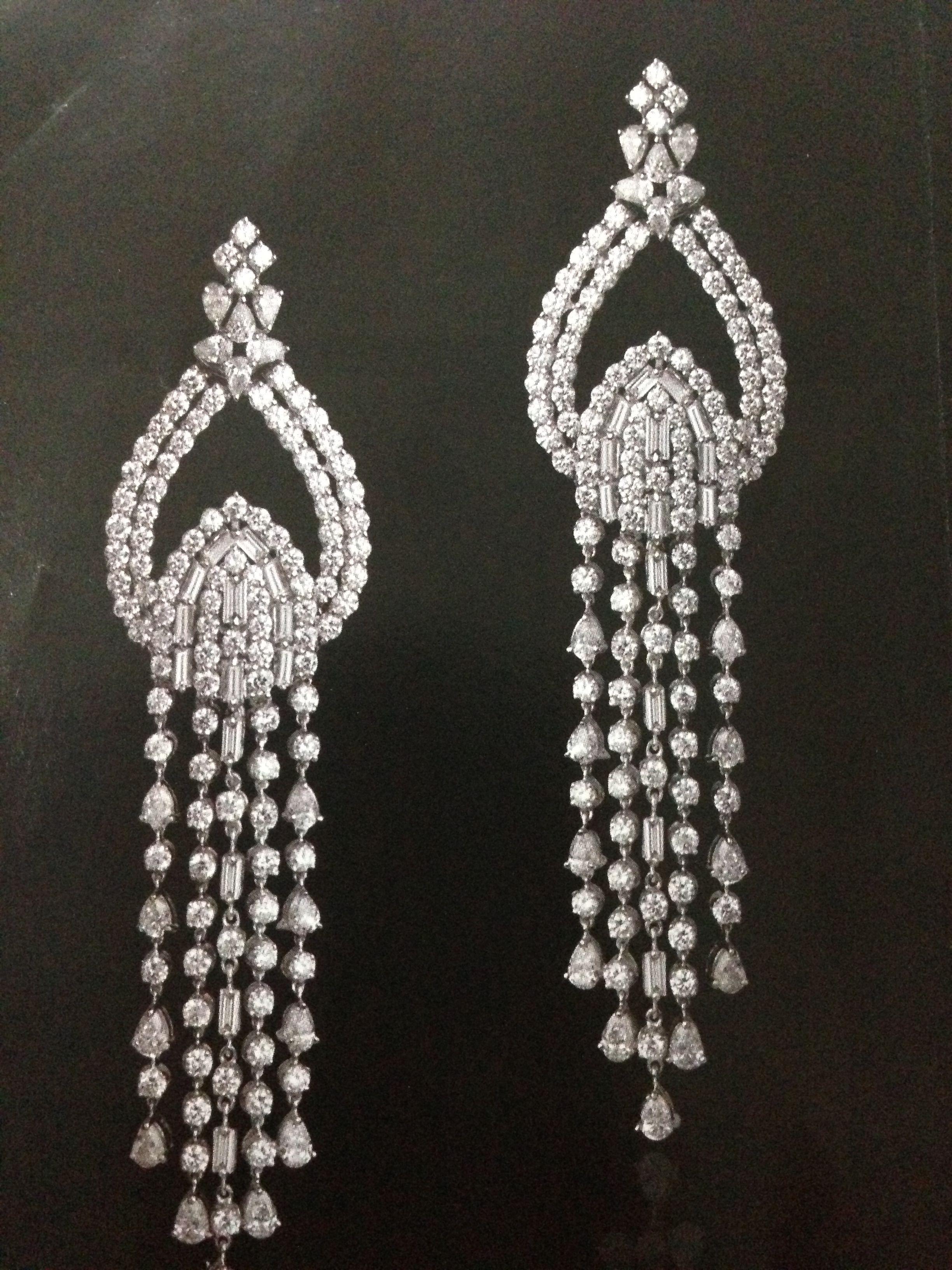 Diamond Silver Chandelier Earrings | Jewellery in 2019 ...